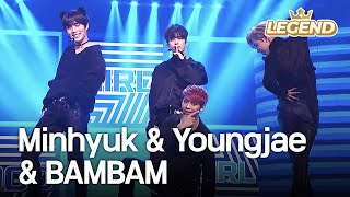 Repeat youtube video Minhyuk(BTOB,MONSTA X) & Youngjae & BAMBAM - Bad Girl Good Gril [2016 KBS Song Festival/2017.01.01]