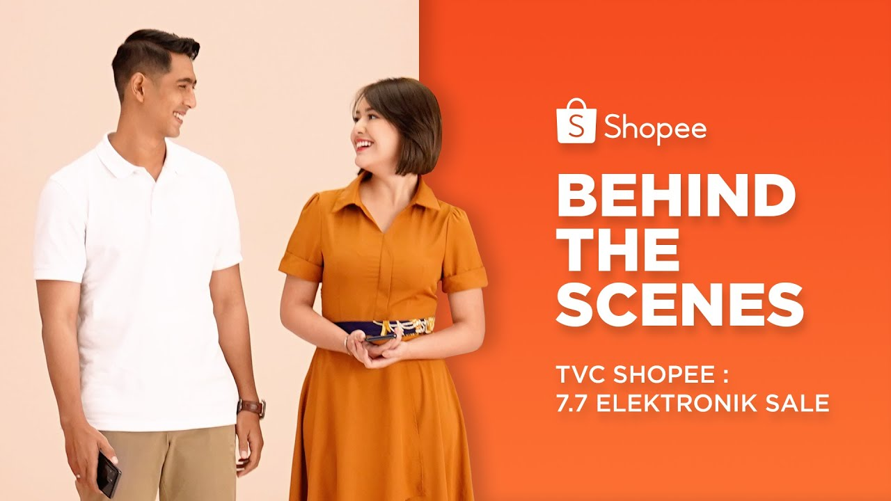 Intip Keseruan Al dan Andin Shooting Iklan Shopee 7.7 Mega Elektronik Sale