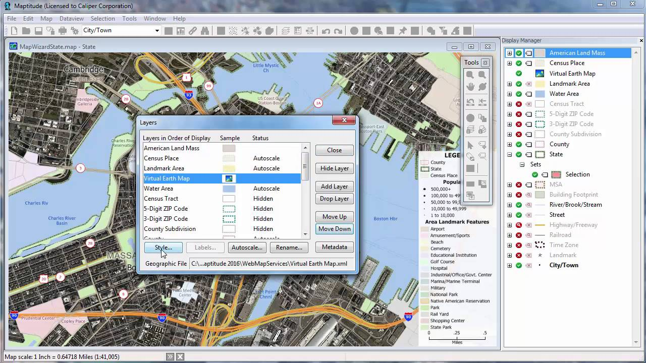 maptitude  mapping imagery aerials satellite photos topographic mapscaliper corporation mapping software. maptitude  mapping imagery aerials satellite photos