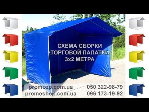Схема сборки торговой палатки