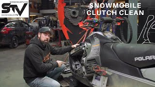 Snowmobile Clutch Clean