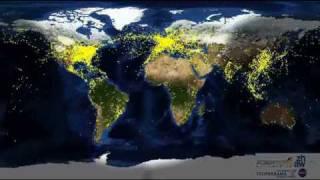 從衛星看地球夜間飛行的飛機 thumbnail