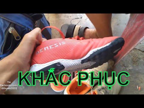 Khắc Phục Giày Đá Bóng Bị Bung Keo   TH Vlog