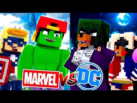 Minecraft Adventure - MARVEL vs DC!!! thumbnail