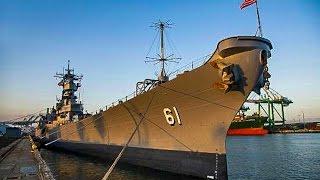 Battleship U.S.S Iowa, Port Of Los Angeles