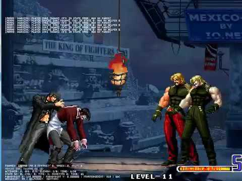 Mugen - Orochi Iori With Iori Yagami VS Rugal 2002 2k2 And Omega Rugal 2nd