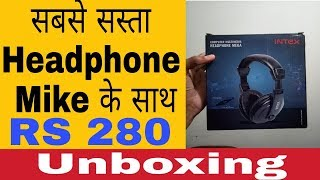 Cheapest intex  headphone with mic best for youtubers to record voice #Save money