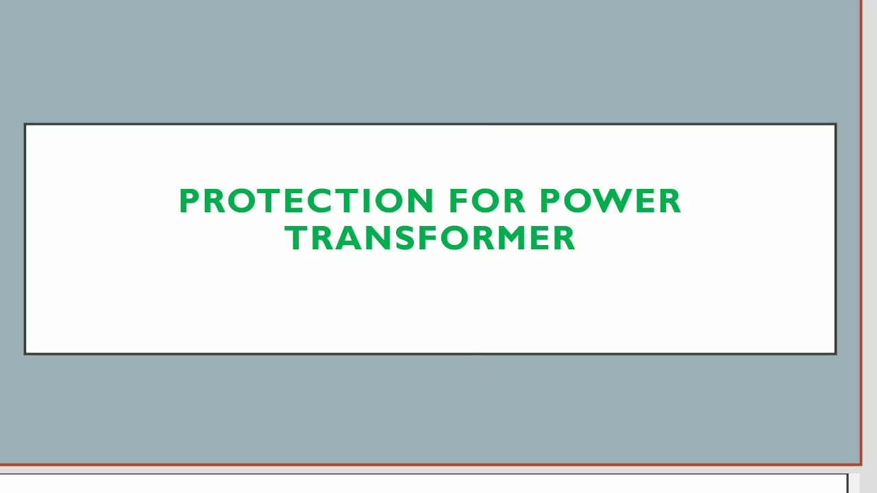 Protection for Traction Transformer