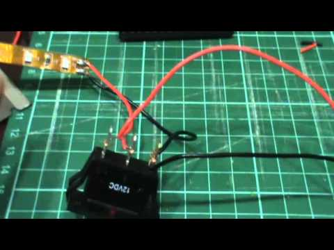 how to wire a led rocker switch