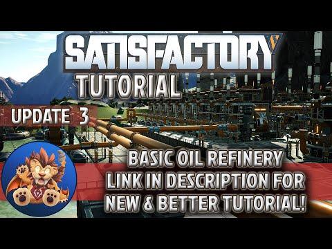 Satisfactory Tutorial - Basic Oil Refinery Setup - Plastic, Rubber, Petroleum Coke - Update 3
