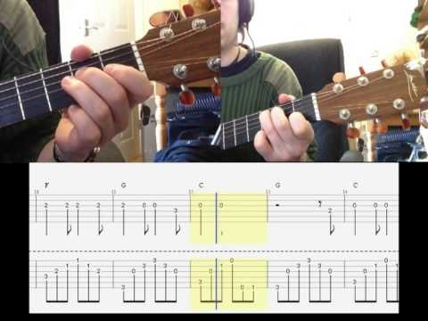 Hallelujah arranged for two guitars with tab