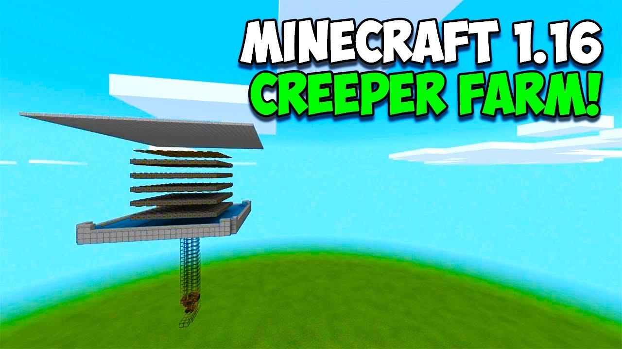 Easy Minecraft 1 16 Creeper Gunpowder Farm Tutorial Minecraft