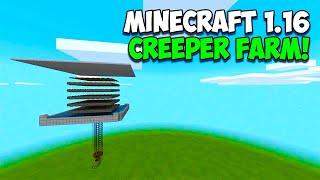 EASY! Minecraft 1.16 Creeper / Gunpowder Farm Tutorial! Minecraft Bedrock (PS4, XBOX, MCPE, SWITCH)