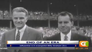 Influential U.S evangelist Billy Graham dies