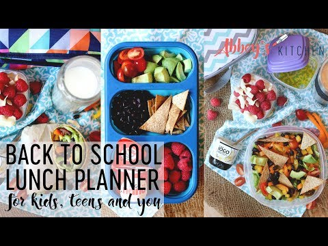 The Official Back to School Lunch Planner For Kids, Teens and You!