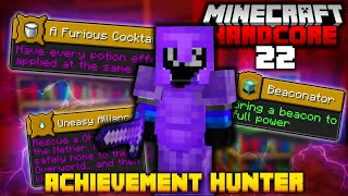 ACHIEVEMENT HUNTING in MINECRAFT HARDCORE... again (#22)