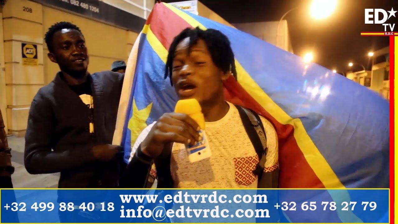 CONGOFOOT CAN 2017: LA JOIE DE CONGOLAIS D'AFRIQUE DU SUD APRES LA VICTOIRE CONTRE LE TOGO.