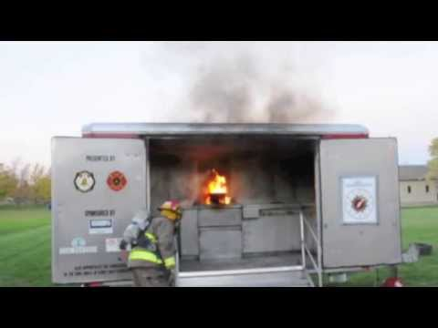 Putting Water on an Oil/Grease Fire is Dangerous & Dramatic