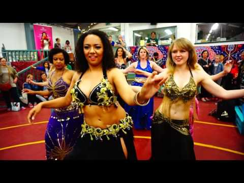 Bellydance performance at the Fusion Sundays Market on the 12th of June