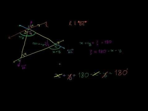 Prova: A soma das medidas dos ângulos em um triângulo é 180°