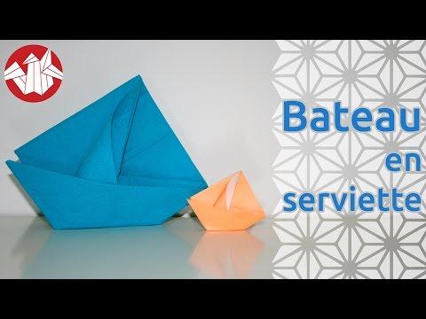 Origami Bateau En Serviette Napkin Boat Senbazuru