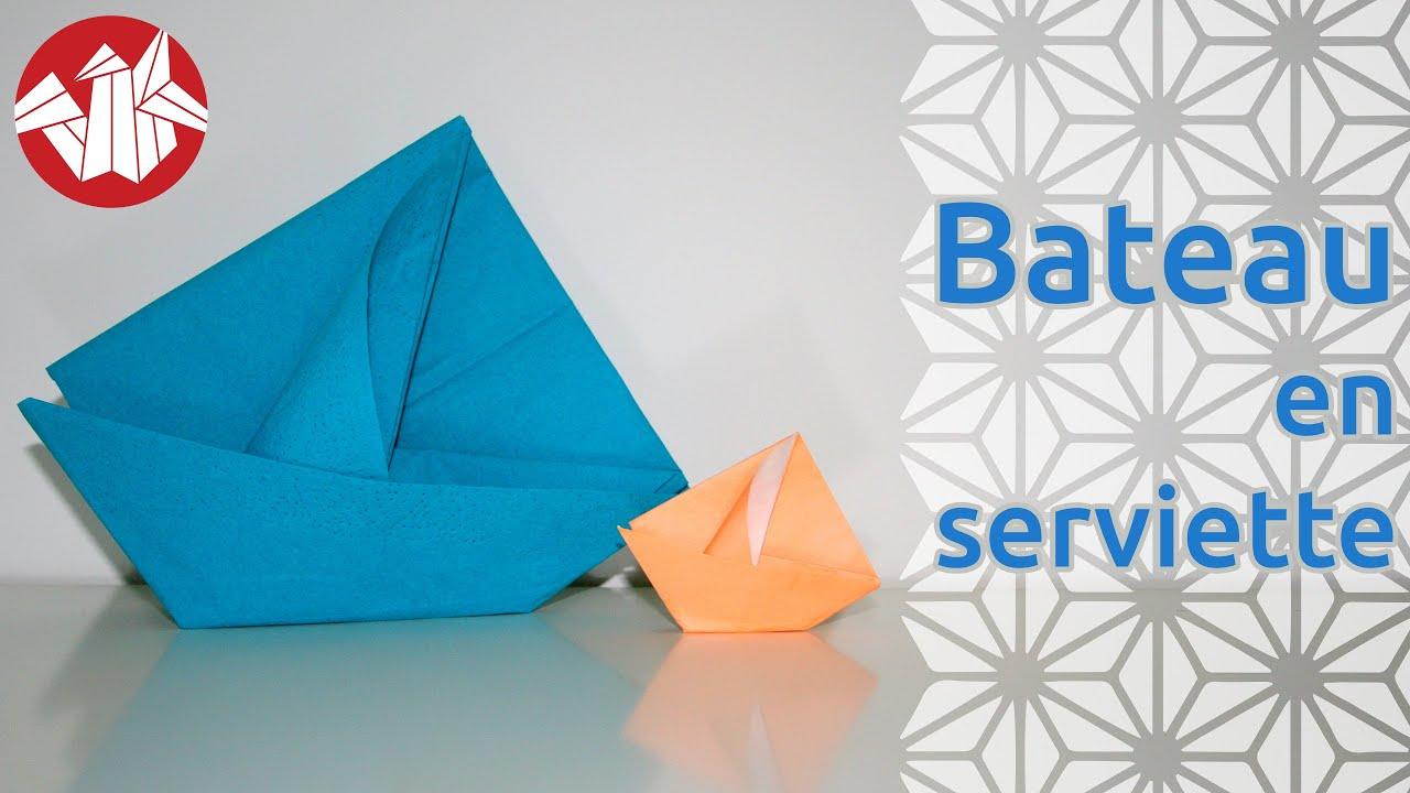 Origami Bateau En Serviette Napkin Boat Senbazuru Youtube