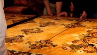 Living Artfully: Installing The Leaves In The Dining Room Table