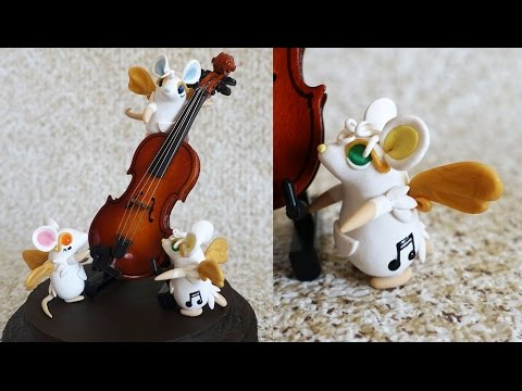 Musical Mice Polymer Clay Tutorial