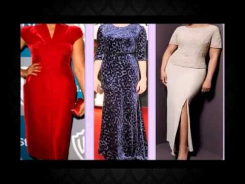 Одежда для полных женщин. Красивое вечернее платье.