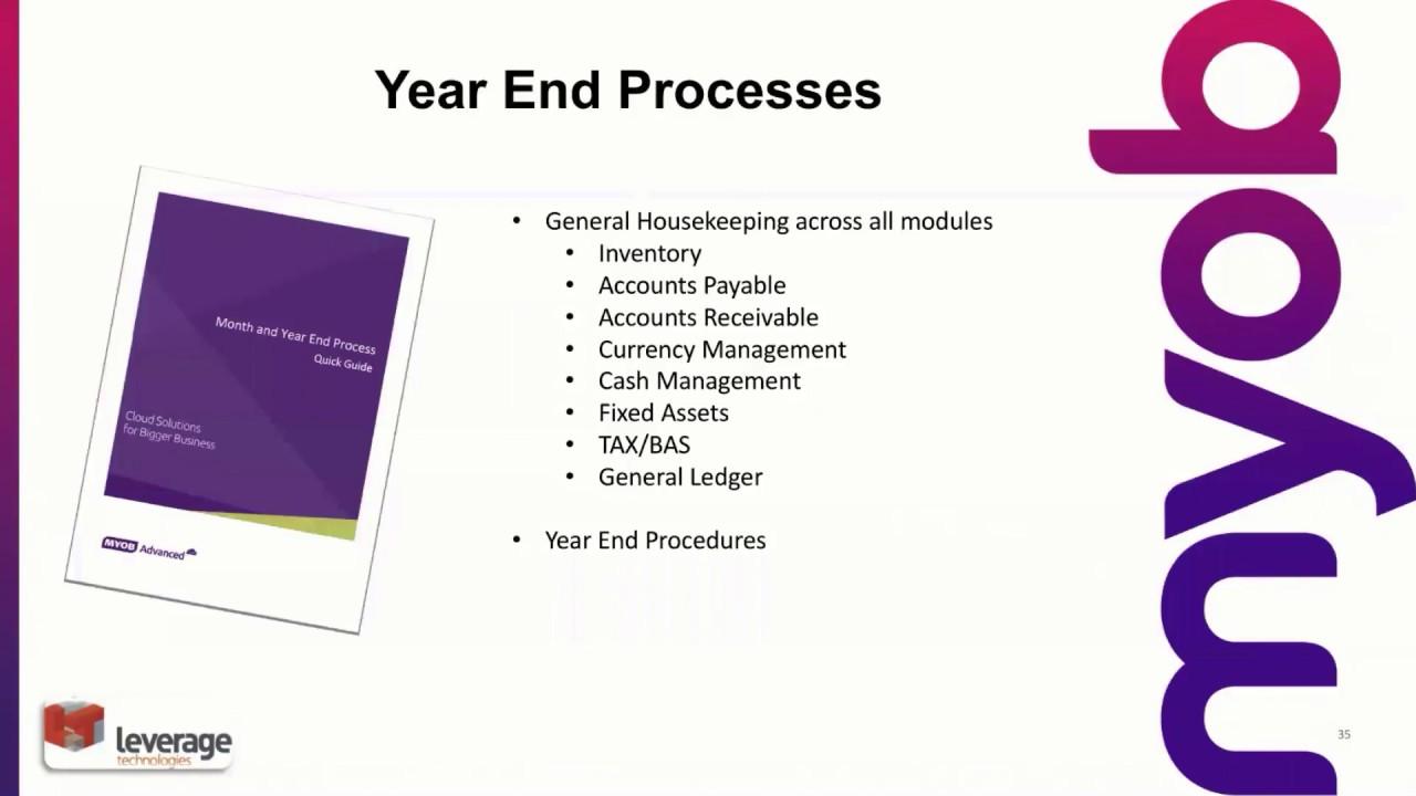 Changing Financial Year in MYOB Advanced: Year-End Procedures