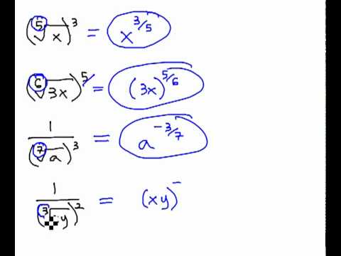 Convert Rational Exponents and Radical Expressions - YouTube