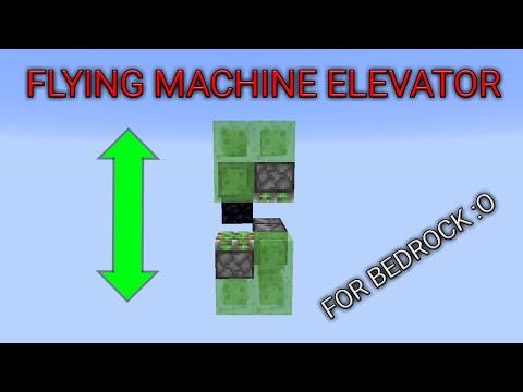 Flying machine elevator for minecraft bedrock edition ( MCPE