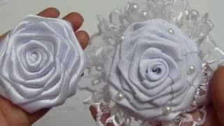 Como elaborar la Flor Rococo grande para una tiara de bautizo