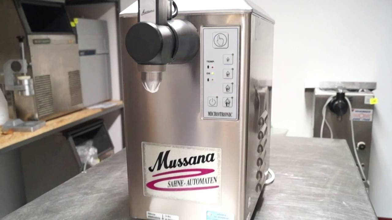 Chłodny AUTOMAT MASZYNA DO BITEJ ŚMIETANY MUSSANA MICROTRONIC PONY 2 LITRY TS76