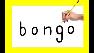 "How to draw a "" BONGO "" using the same words in to cartoon! for kids and others !very easy way"