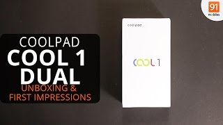 Coolpad Cool 1 Dual Unboxing amp First Look Hands on Price Hindi-