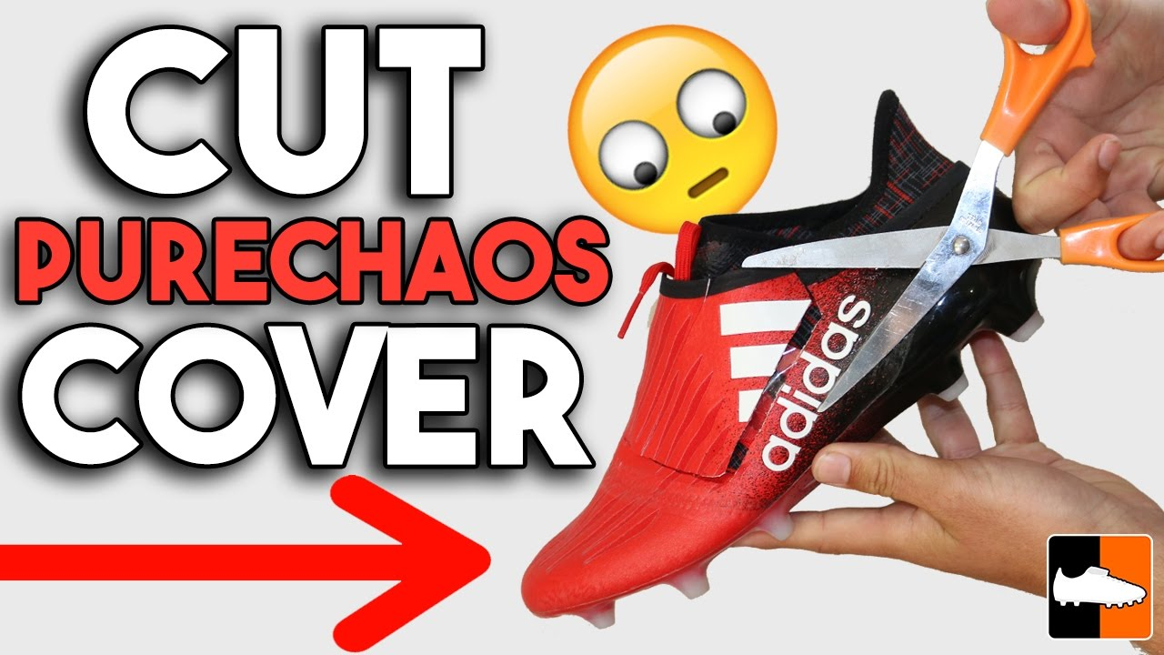 how to cut purechaos to remove lace cover on adidas x16 football