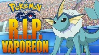 r i p vaporeon massive pokemon go update