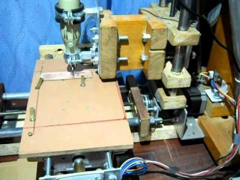 Ogromnie Frezowanie PCB bardzo tanią frezarką cnc diy - YouTube MH24