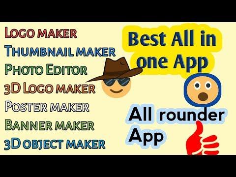 Awesome All Rounder  App | Logo Maker| Poster Maker |Sticker Maker| Photo Editor