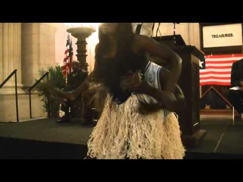 Liberian dance in Cleveland City Hall