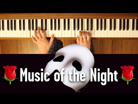 🎭The Music of the Night🎭 (Phantom of the Opera) [Early intermediate Piano Tutorial]