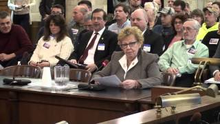 NJ Senate Majority Leader Loretta Weinberg speaks at gun control hearing, feb. 13, 2013