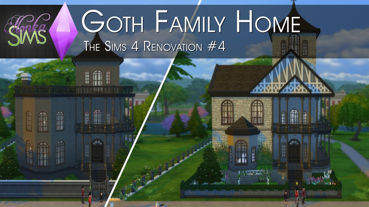 The Goth Family Home The Sims 4 Renovation 4 Youtube