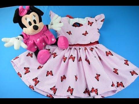 6a2b798ba Como hacer un Vestidos Para Niñas 6 -18 meses - YouTube