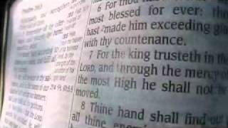 Psalm 21 Holy Bible (King James)