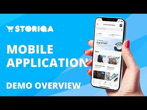 Storiqa mobile application demo overview