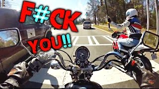ROAD RAGE | EXTREMELY STUPID DRIVERS | DANGEROUS MOMENTS MOTORCYCLE CRASHES