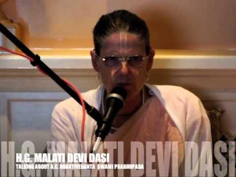 H.G.Malati Devi Dasi  @ ISKCON Swansea UK 02/sep/2012