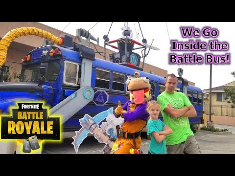 Training For Fortnite Battle Royale In Real Life & Exploring The Real Battle Bus!!